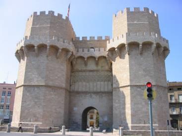 Puerta fotificada de serranos, Valecia, España